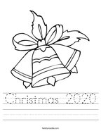 Christmas 2020 Handwriting Sheet