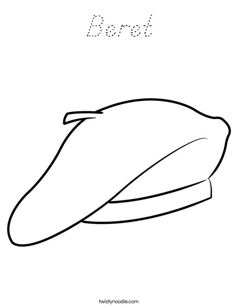 Beret Coloring Page