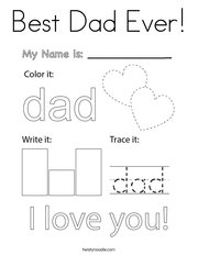 Best Dad Ever! Coloring Page
