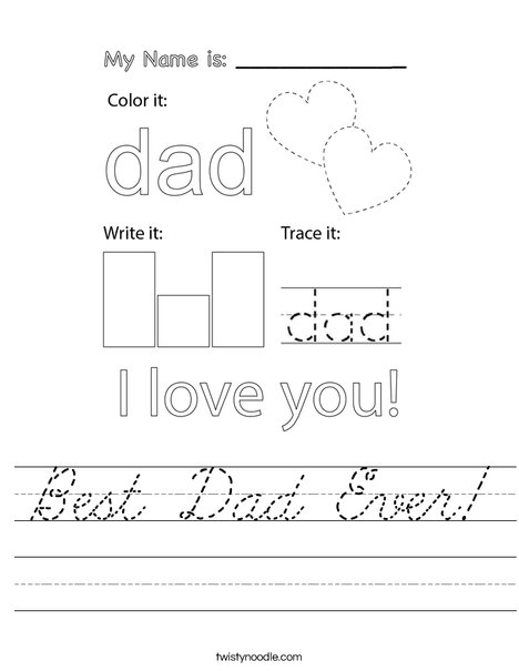 Best Dad Ever! Worksheet