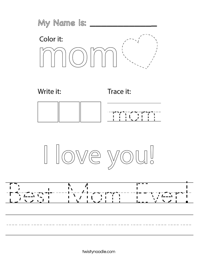 Best Mom Ever! Worksheet