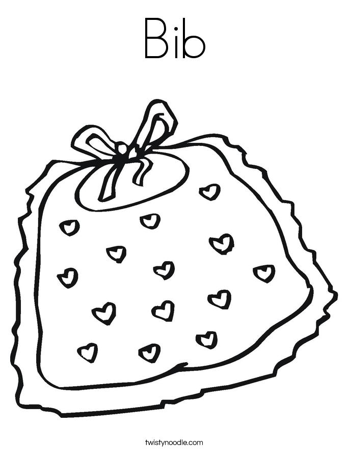 Bib Coloring Page