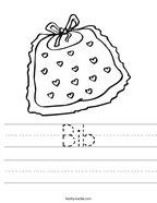 Bib Handwriting Sheet