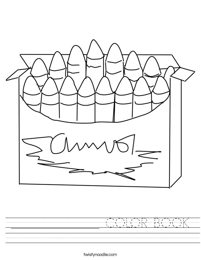 _______________ COLOR BOOK Worksheet