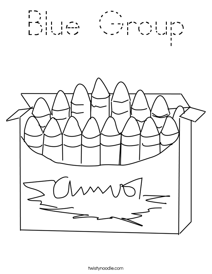 Blue Group Coloring Page