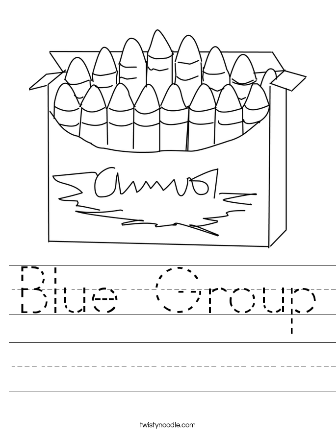 Blue Group Worksheet