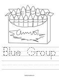 Blue Group Worksheet