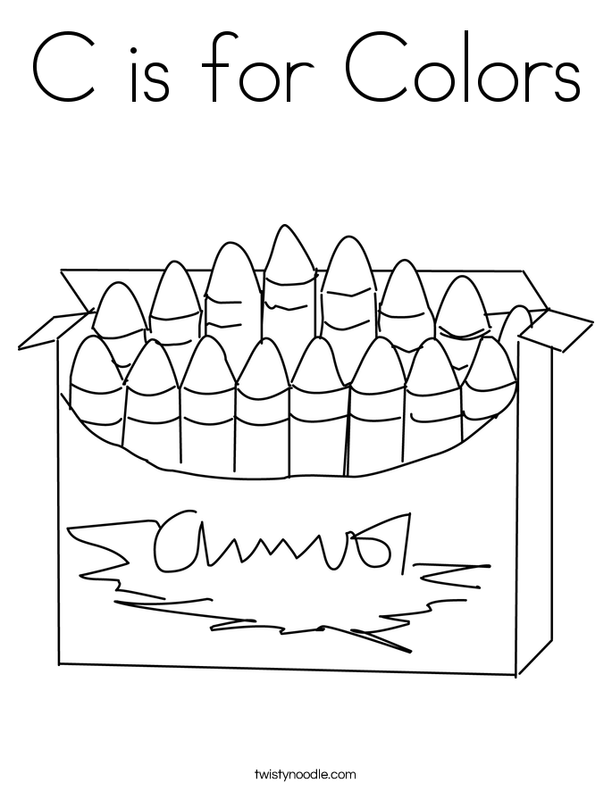 c is for colors coloring page - C Coloring Sheet