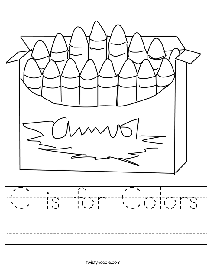 C is for Colors Worksheet
