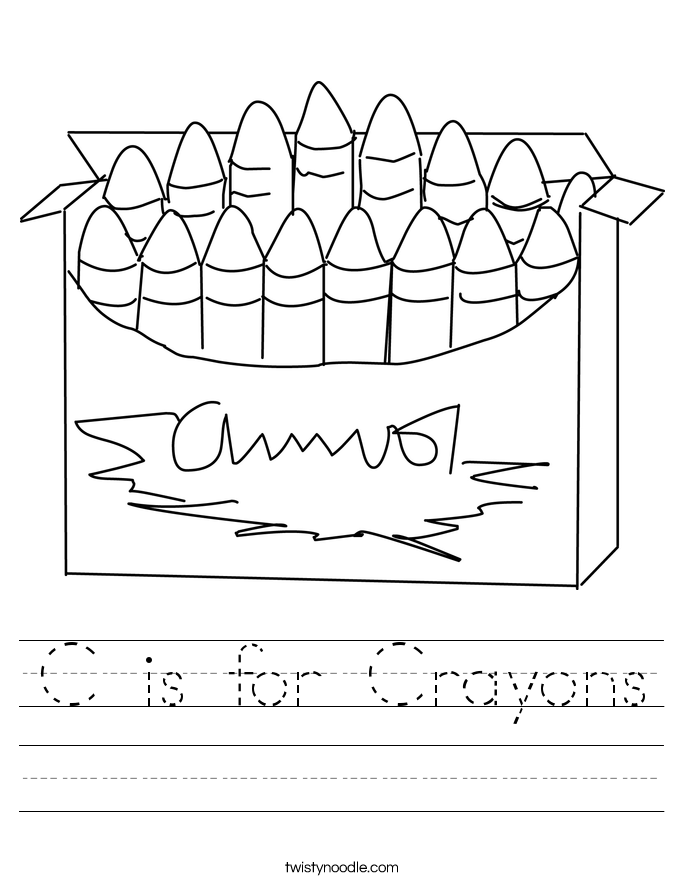 C is for Crayons Worksheet