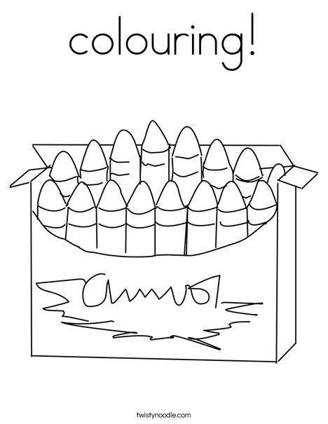 Big Box of Crayons Coloring Page