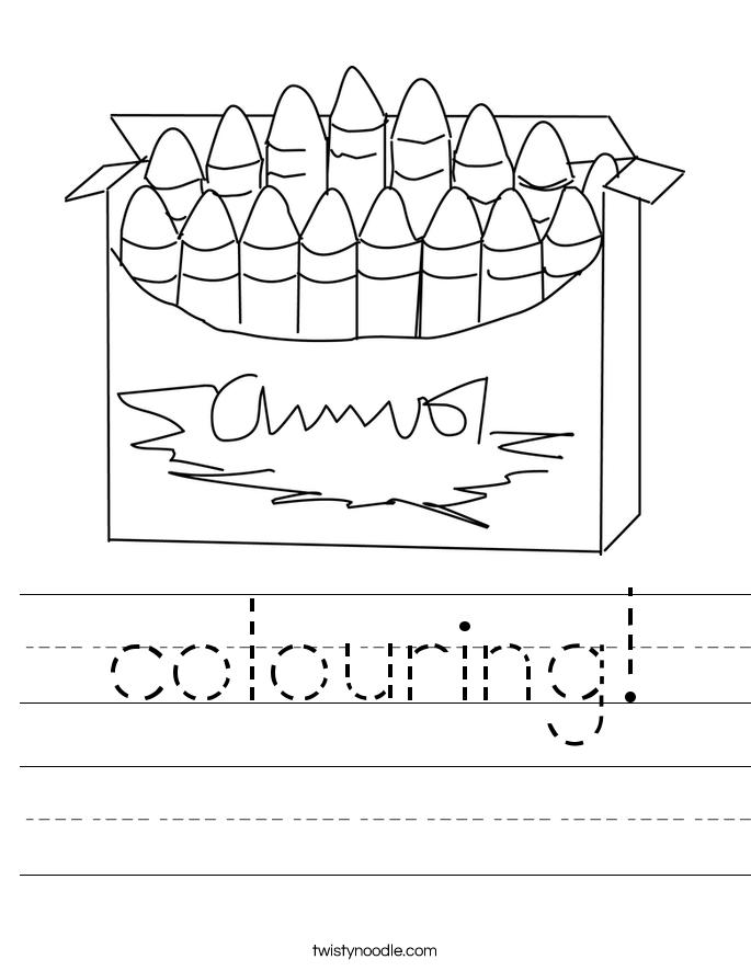 colouring! Worksheet