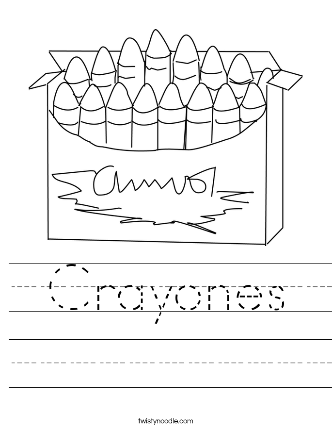 Crayones Worksheet