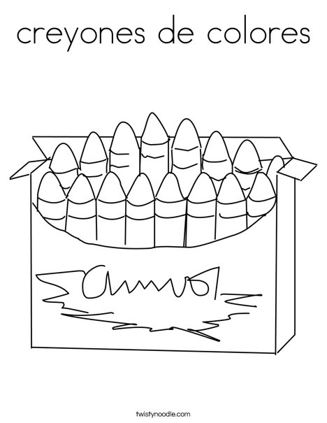Big Box of Crayons Coloring Page