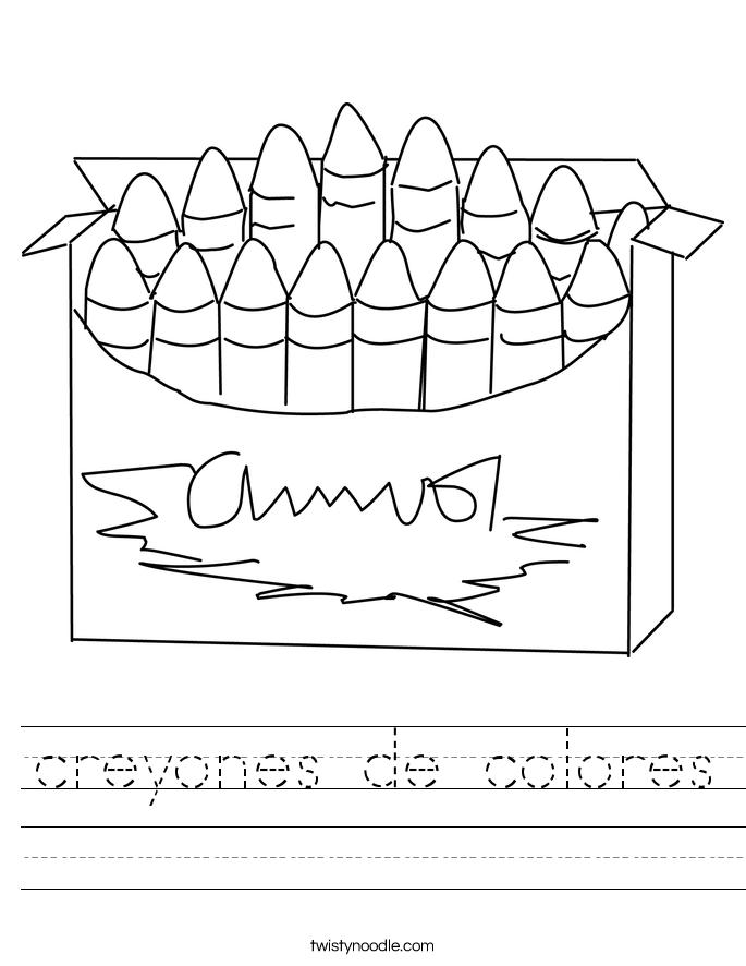 creyones de colores Worksheet