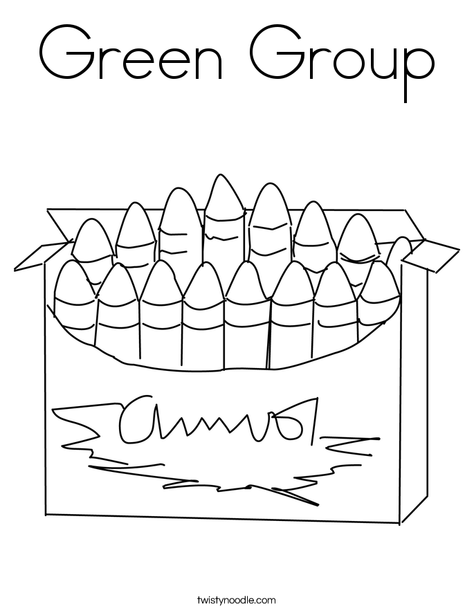 Green Group Coloring Page