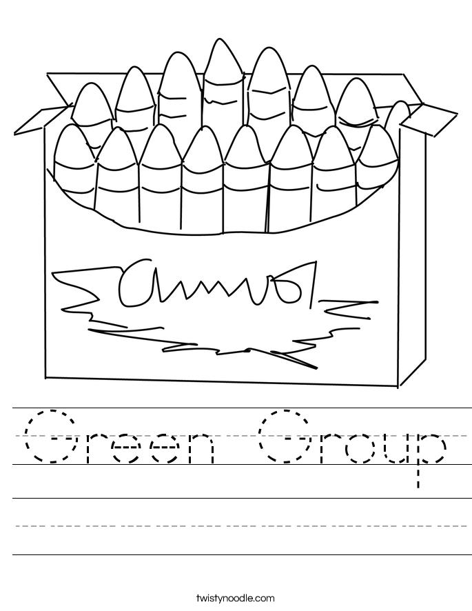 Green Group Worksheet