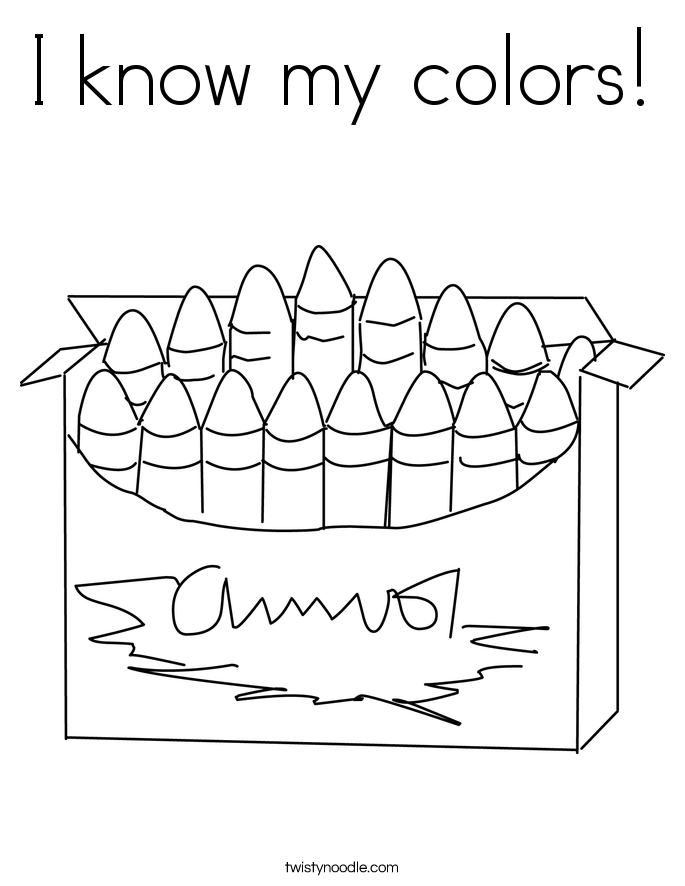 I know my colors! Coloring Page
