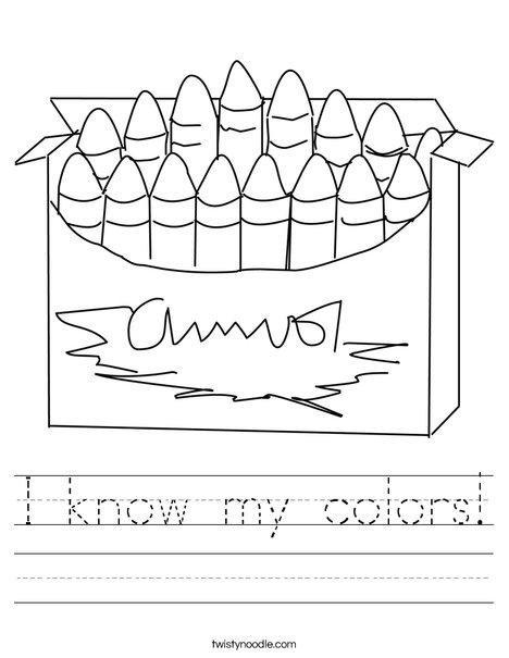 Big Box of Crayons Worksheet