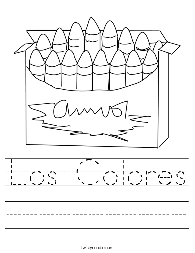 Los Colores Worksheet Twisty Noodle