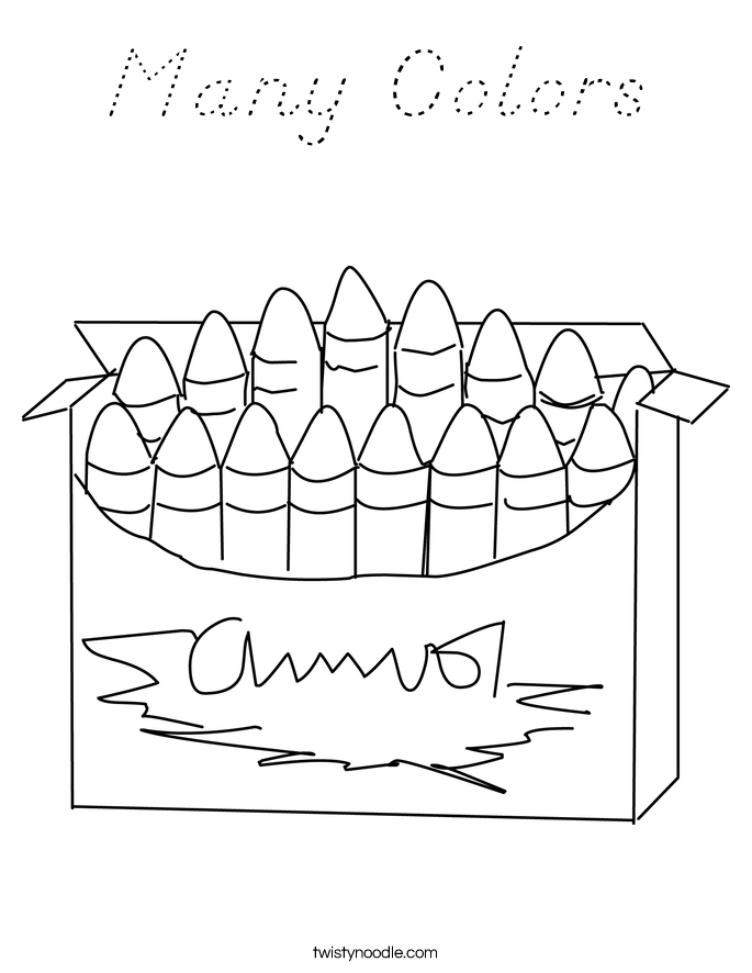 Many Colors Coloring Page