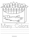 Many Colors Worksheet