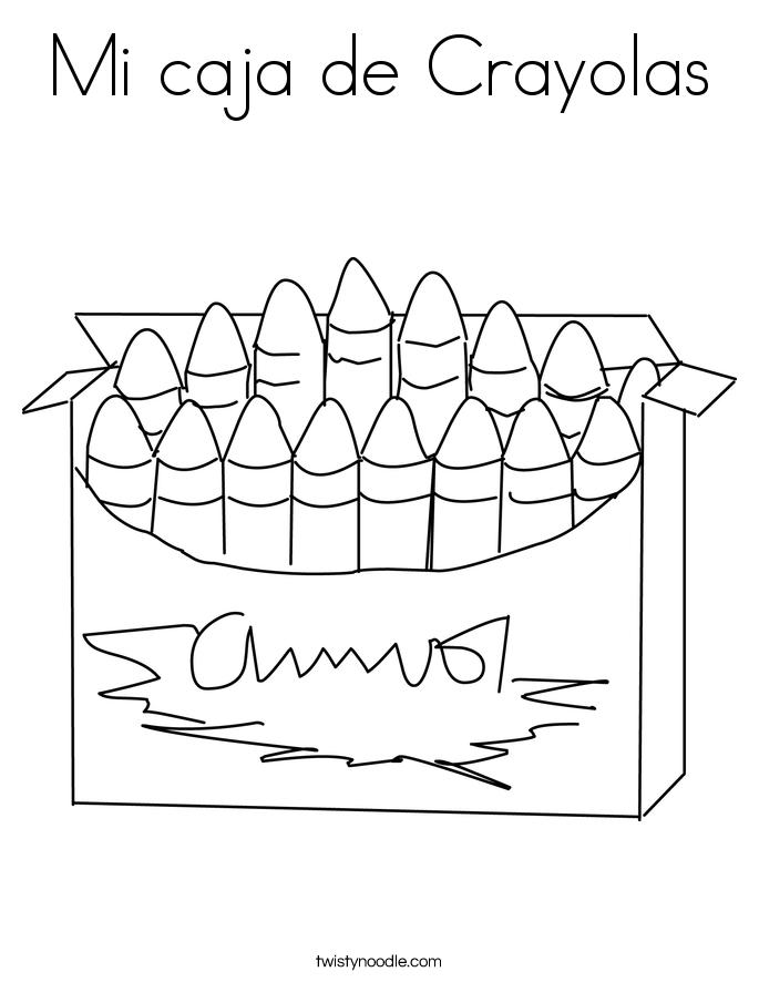 Mi caja de Crayolas Coloring Page