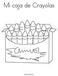 Mi caja de CrayolasColoring Page