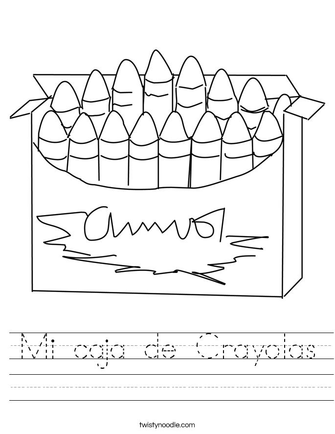 Mi caja de Crayolas Worksheet