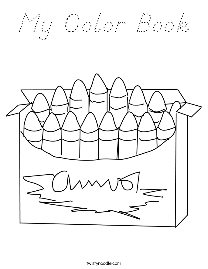 My Color Book Coloring Page