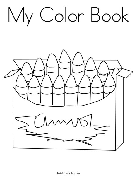 big box of crayons coloring page - My Color Book Printable