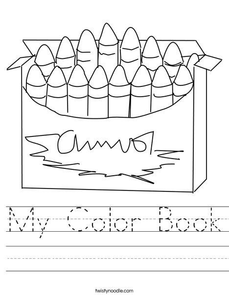 My Color Book Worksheet - Twisty Noodle