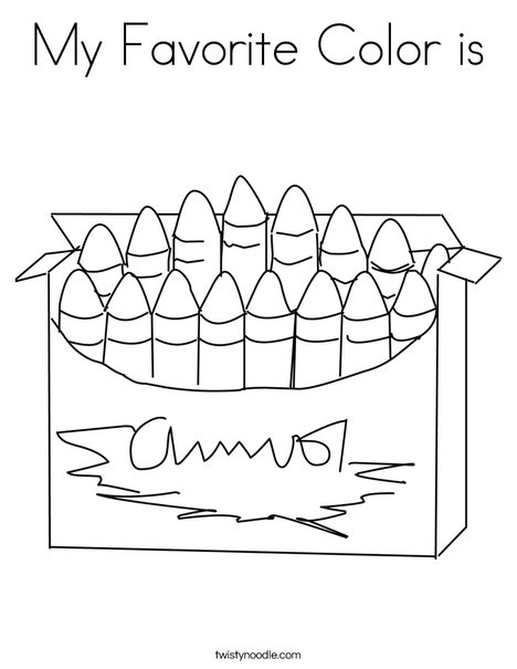 Blue Crayon Coloring Page Coloring Coloring Pages