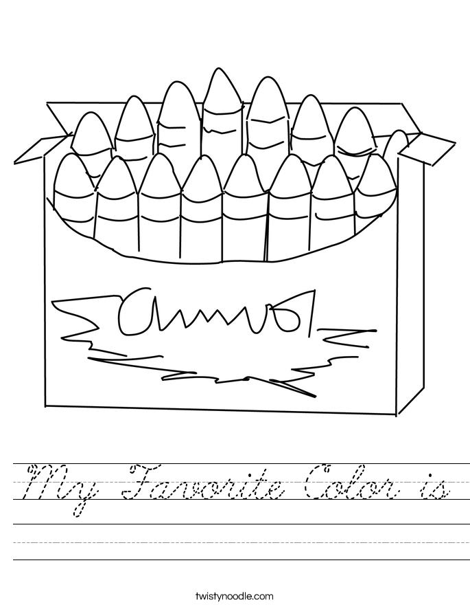 My Favorite Color is Worksheet
