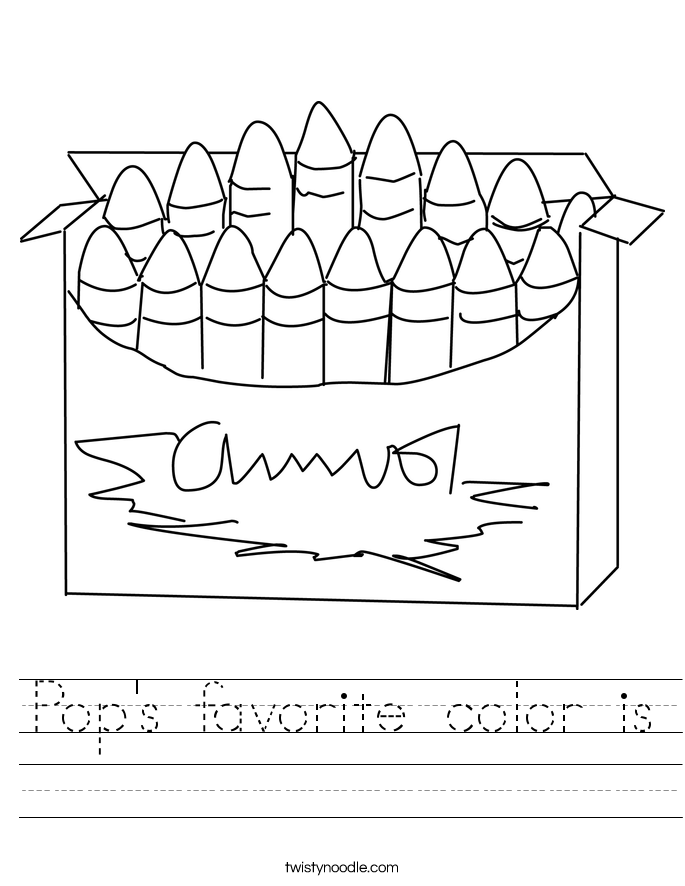 Pop's favorite color is Worksheet