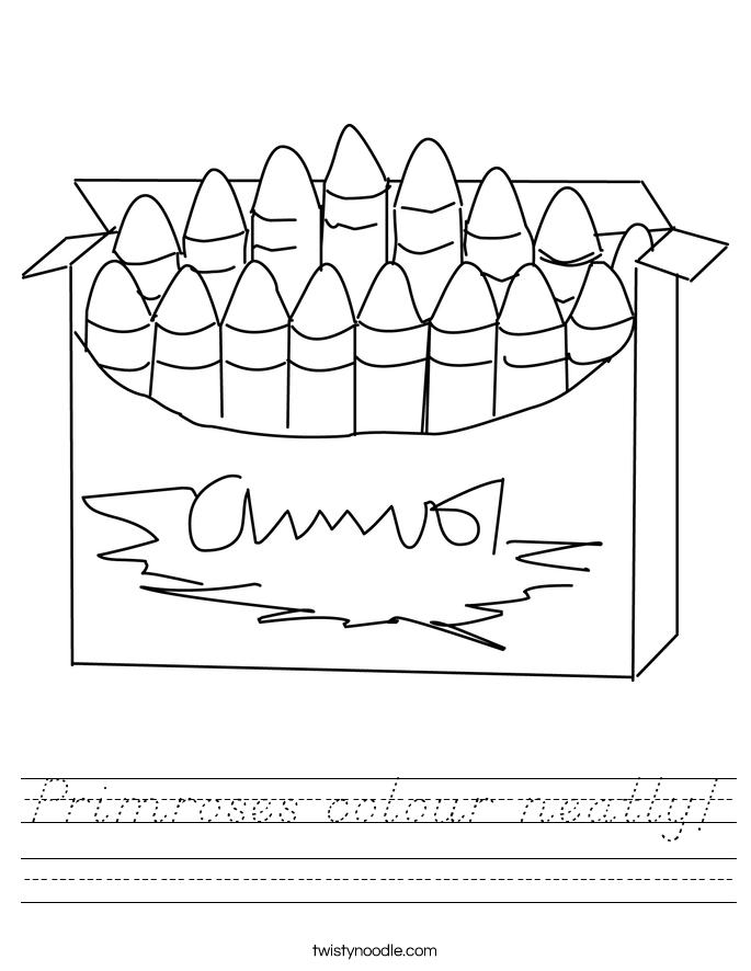 Primroses colour neatly! Worksheet