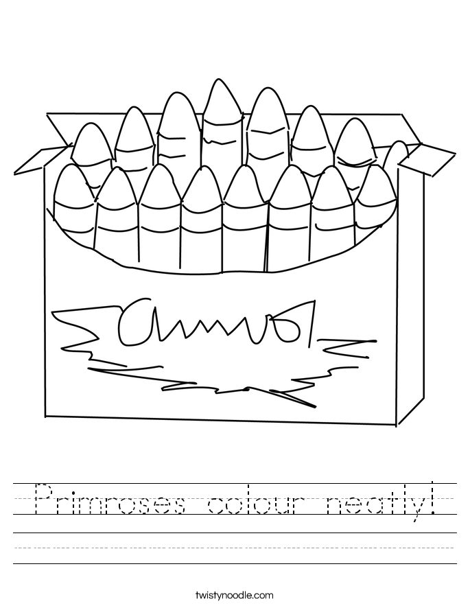 Primroses colour neatly! Worksheet
