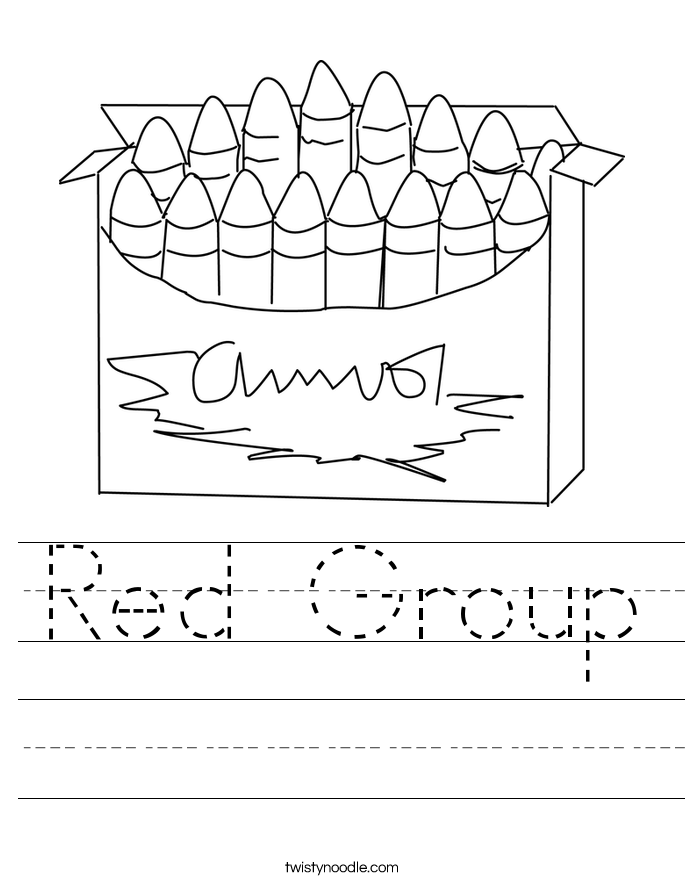 Red Group Worksheet