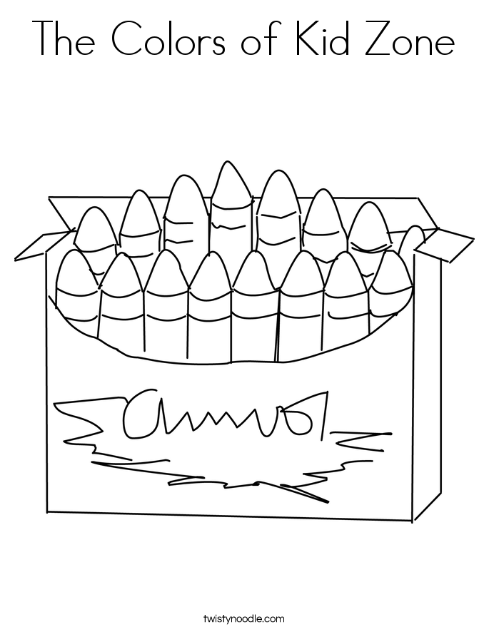 The Colors of Kid Zone Coloring Page