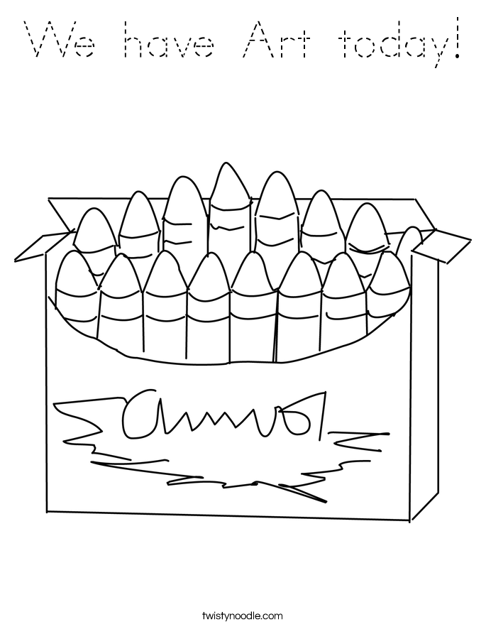 We have Art today! Coloring Page