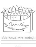 We have Art today! Worksheet
