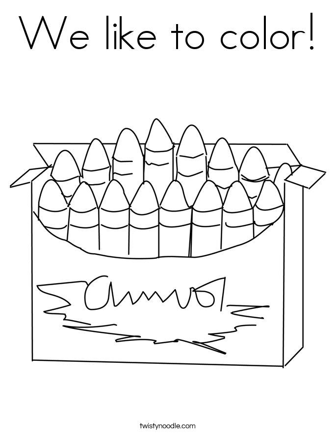 We like to color! Coloring Page