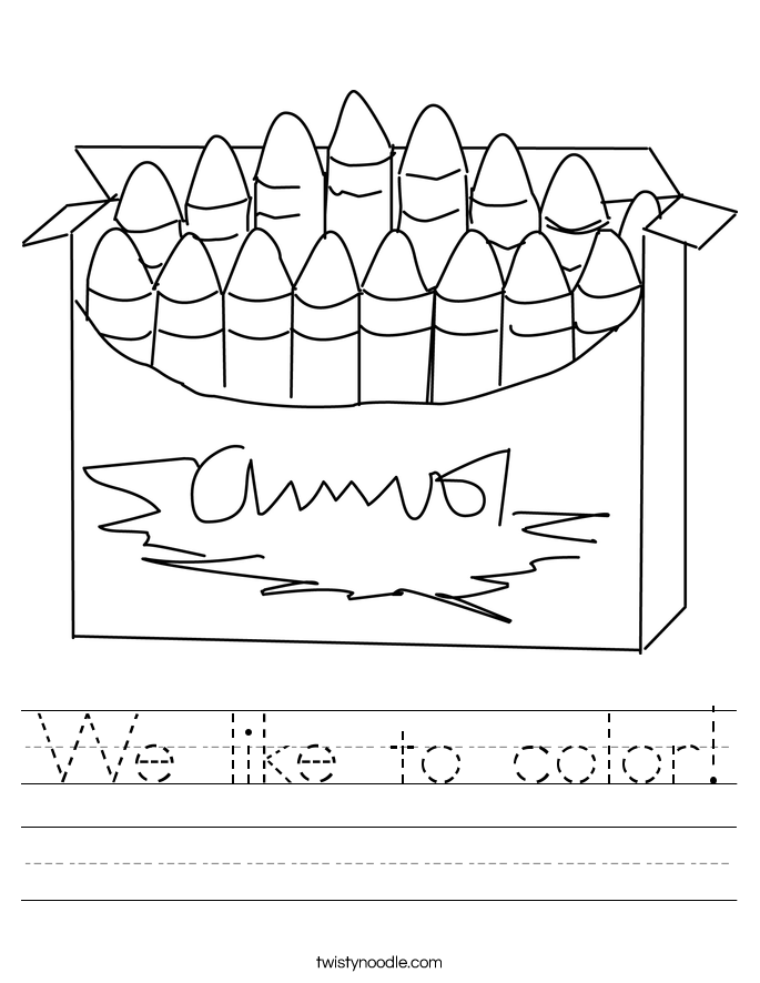 We like to color! Worksheet