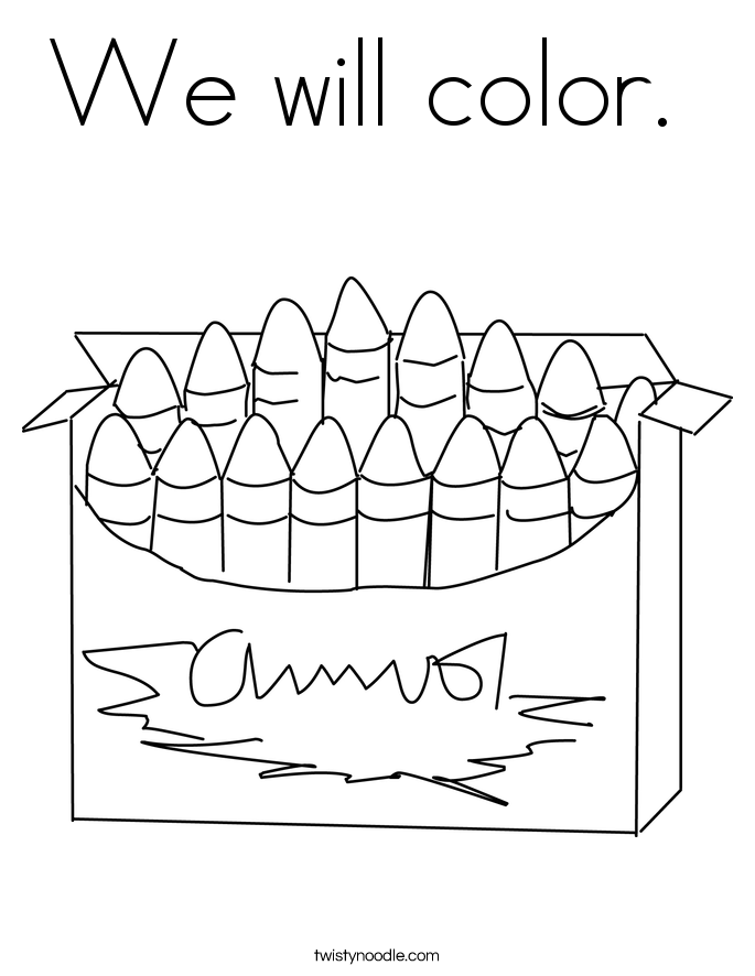 We will color.  Coloring Page