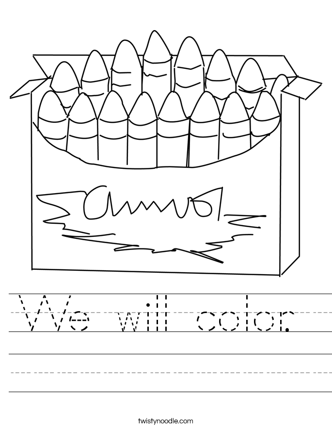 We will color.  Worksheet