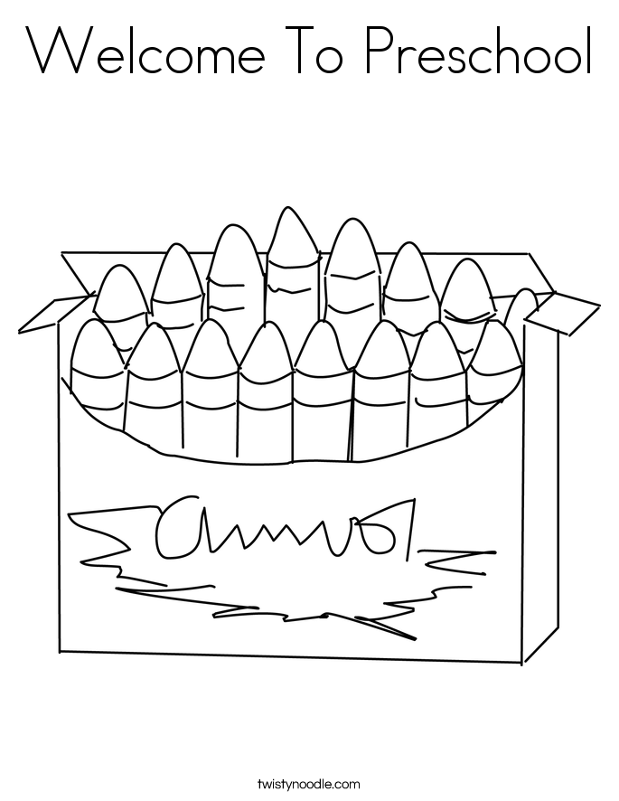 Welcome To Preschool Coloring Page
