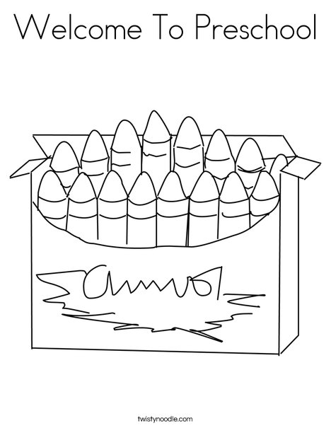 - Welcome To Preschool Coloring Page - Twisty Noodle
