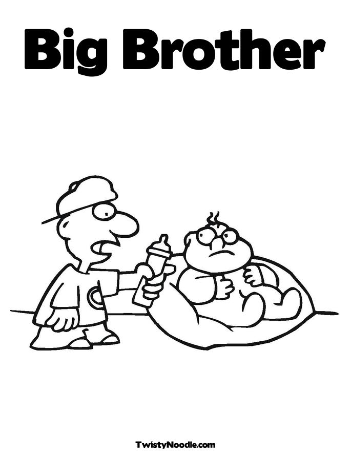 brother coloring pages - photo#16