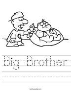 Big Brother Handwriting Sheet