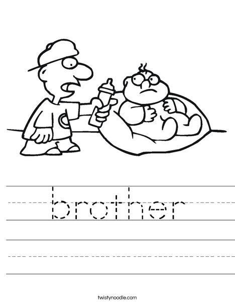 Big Brother Worksheet